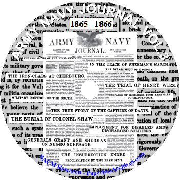 Civil War Army and Navy Journal and Gazette Volume 3 1865-1866 CD-ROM