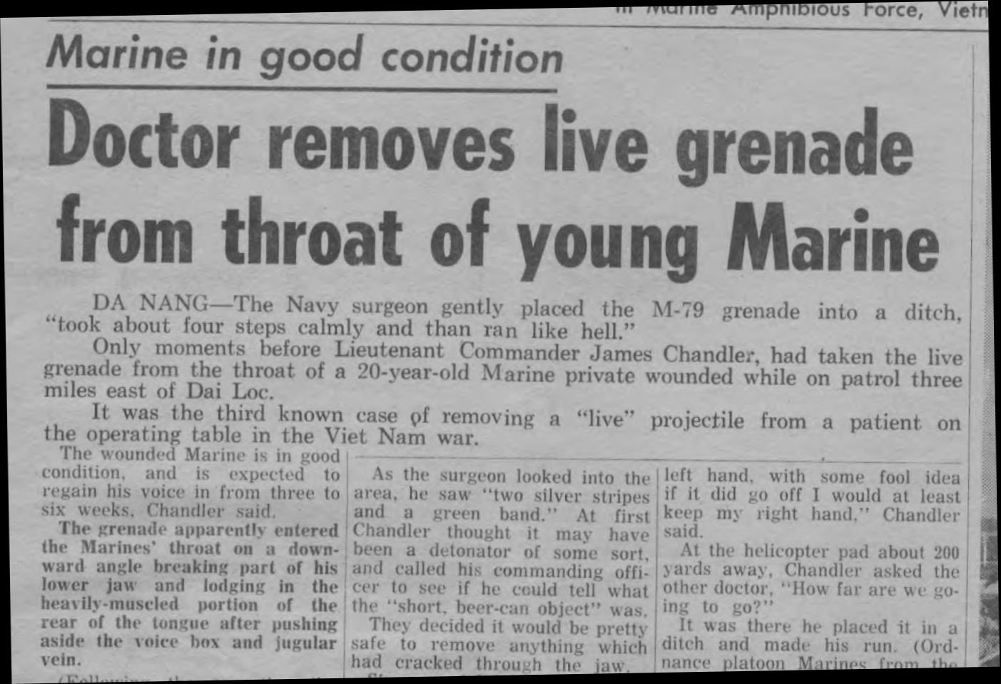 Article from Sea Lion December 28 1966