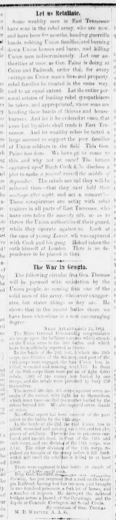 Brownlow's Knoxville Whig and Rebel Ventilatorb article 6