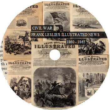 Civil War Frank Leslie's Illustrated Newspaper 1860-1865 DVD-ROM