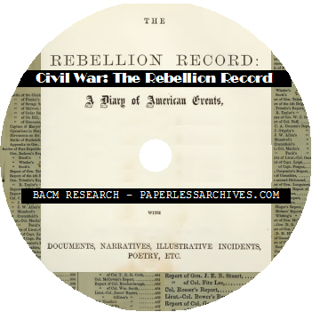 Civil War The Rebellion Record Journal (1861-1868) CD-ROM