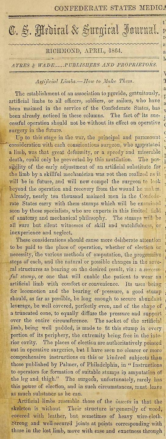 Confederate States Medical & Surgical Journal Page 3