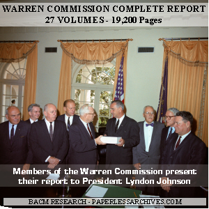 Kennedy Assassination Warren Commission Complete Report CD-ROM