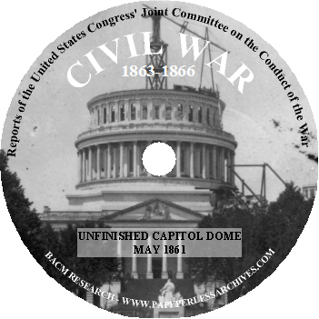 Reports of the United States Congress Joint Committee on the Conduct of the War CD-ROM