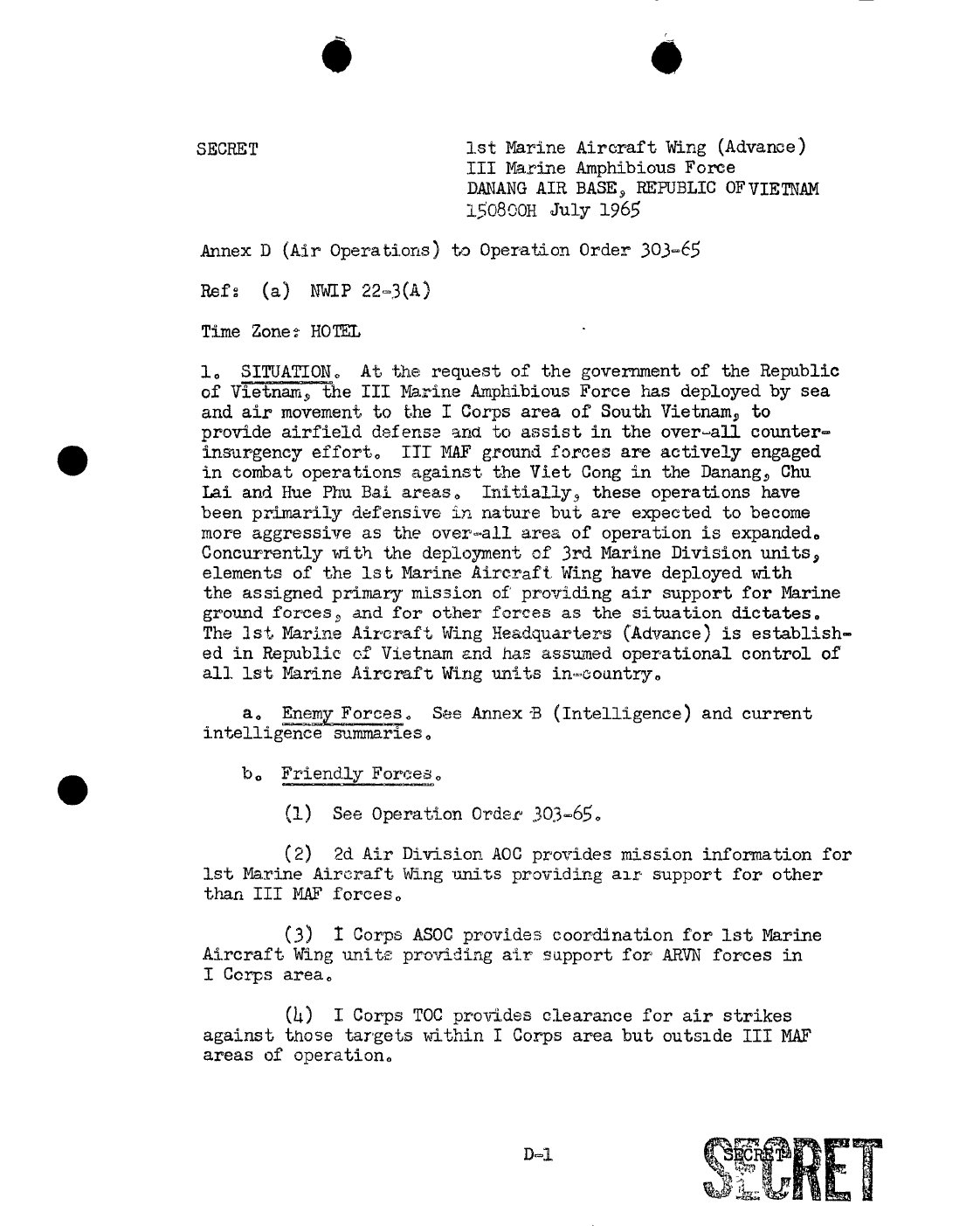 Vietnam-War-1st-Marine-Corp-Aircraft-Wing-Command-Activit- Reports-Page-1