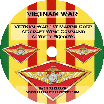 Vietnam-War-1st-Marine-Corp-Aircraft-Wing-Command-Activity-Reports-CD-ROM