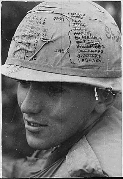 Vietnam War Helmet Drawing