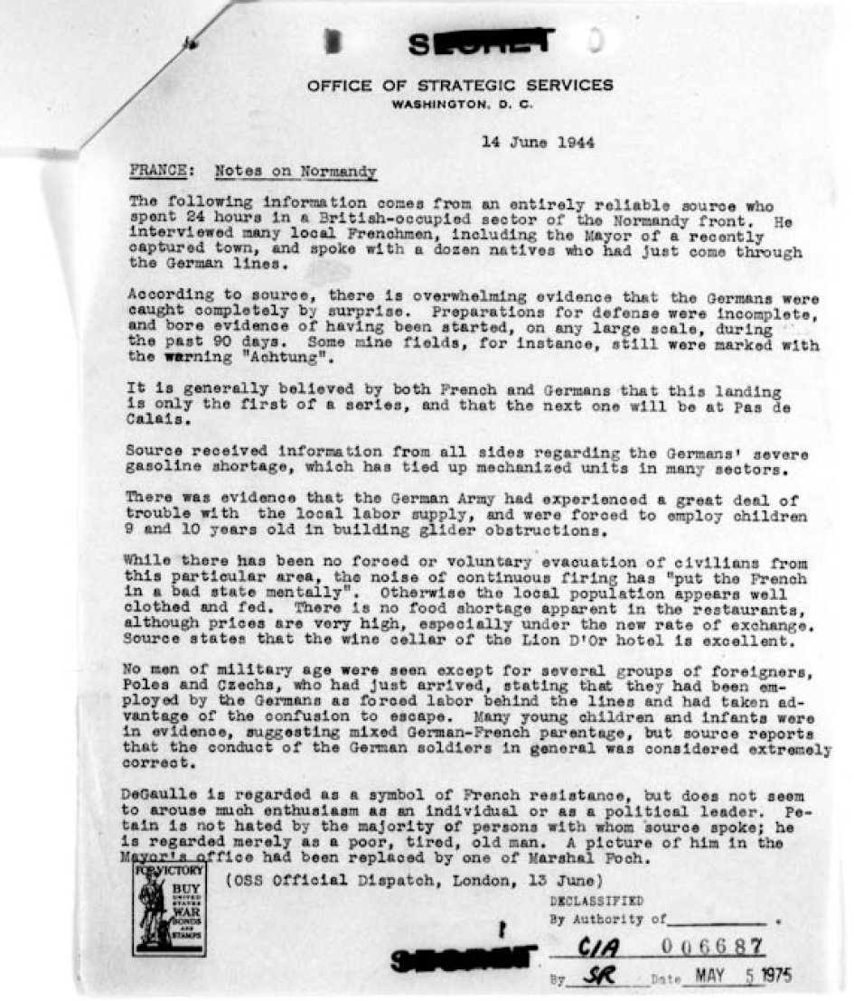 World-War-II-OSS-Numbered-Bulletin-June-14-1944