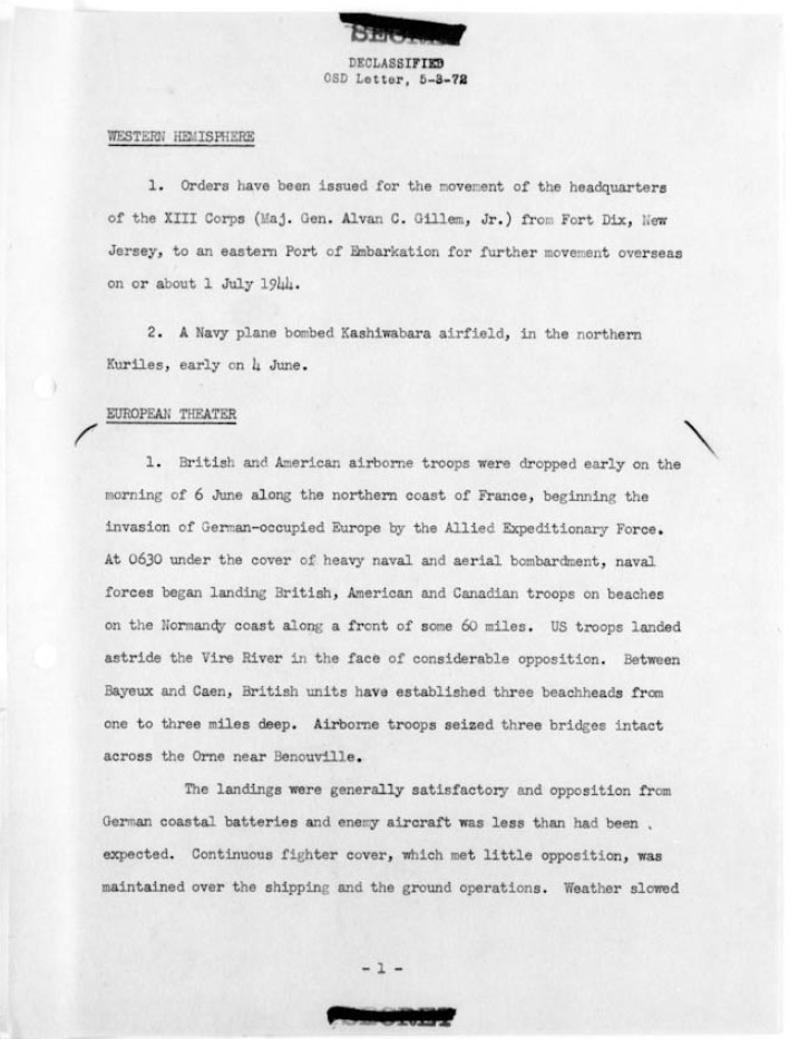 world war ii war department operational decisions and actions  world war ii war department operational summary page