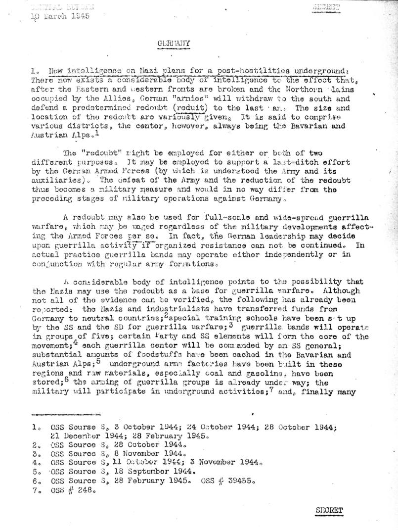 World War II German Control and Crimes in Europe OSS Reports Sample Page 4