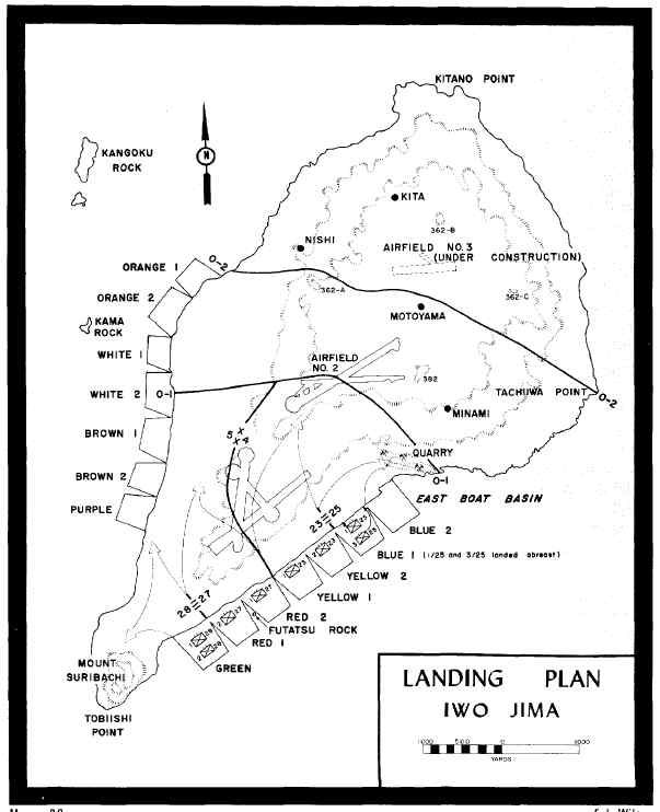 world war 2 map of asia. World War II Iwo Jima Landing