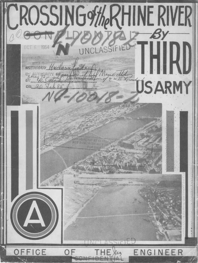 Report cover crossing of the rhine river by the third army office