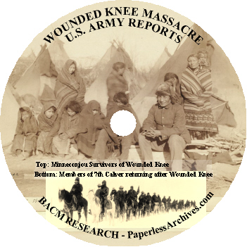 Wounded Knee Massacre Army Reports CD-ROM