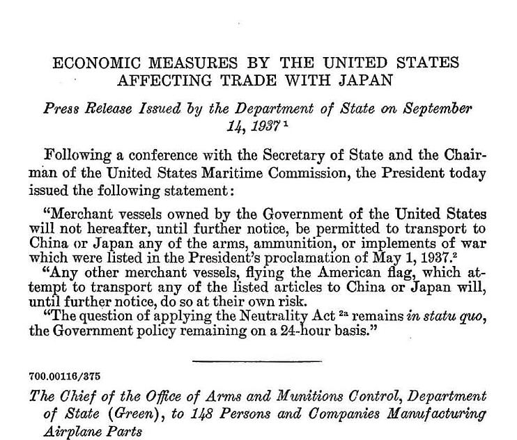 September-14-1937-Economic-measures-by-the-United-States-affecting-trade-with-Japan