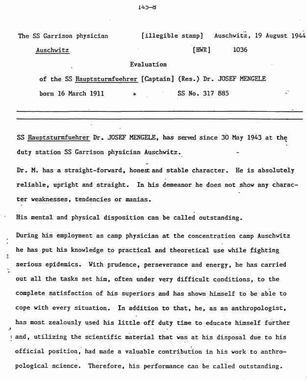 "essay about josef mengele Dr josef mengele's ""the angel of death"" dr josef mengele's ""the angel of death"" josef mengele was rightfully named ""the angel of death"" due to his."